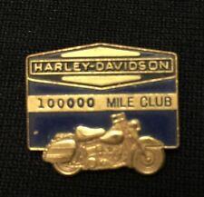 SUPER RARE!! 1960's Genuine HARLEY-DAVIDSON 100,000 Mile Club PIN, Leavens MFG.