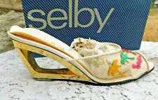 Vintage 1980'S Selby Shoes Clear Vinyl Donut Heels W Org Box Size 7.5 Women Us