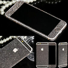 NERO GLITTER Full Body Vinile Decalcomania Avvolgere Adesivo SKIN PER iPHONE 5 5S UK Venditore