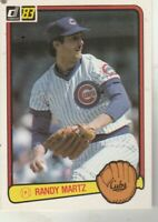FREE SHIPPING-MINT-1983 Donruss #151 Randy Martz Chicago Cubs PLUS BONUS CARDS