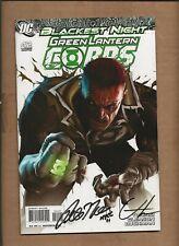 GREEN LANTERN CORPS #42 VARIANT DUAL SIGNED GREG HORN PETER TOMASI DC COMICS