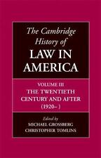 The Cambridge History of Law in America Volume 3 by