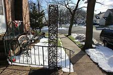 """Vintage Garden Trellis Metal Rose Flower Designs 84"""" Tall Architectural"""