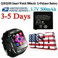 Original Q18 Q18s Smart Watch 500mAh Li-Polymer Battery Q18 SmartWatch Battery