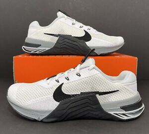 Nike Metcon 7 White Black Grey CrossFit Training Shoes CZ8281-100 Men's Sz 11.5