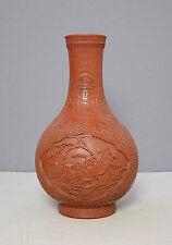 Chinese  Monochrome  Red  Glaze  Porcelain  Vase  With  Mark     M1323