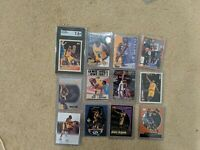 Kobe Bryant (12) Card lot with (7) Rookies RC W/ Topps #138 RC Graded SGC 7.5