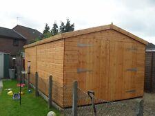 """Garden Shed security workshop/garage 20X10 7ft D/D 3""""X2 framework 1""""thick floor"""
