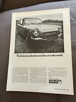 VINTAGE 1960s HONDA S800 ORIGINAL ADVERT