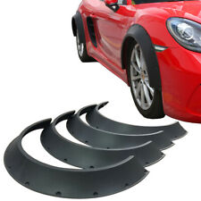 4 PCS Universal ABS New School Fender Flares Wheel Arches Extension 80mm + 60mm