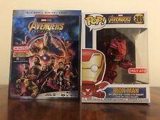 Avengers Infinity War Target Red Chrome Iron Man Funko Pop Blu-Ray + Digital HD