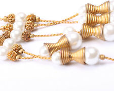 Gold Tone and Faux Pearl necklace, Vintage 1950s