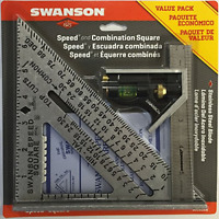 Swanson Tool Co S0101CB Speed Square Layout Tool with Blue Book and Combination