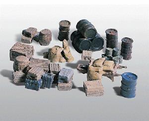 Woodland Scenics # 203 Scenic Details(R) Assorted Crates, Barrels & Sacks HO MIB