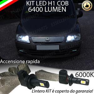 ABBAGLIANTE LED FIAT MULTIPLA MK2 LED H1 6400 LUMEN ACCENSIONE ISTANTANEA XENON