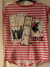 RED AND WHITE T SHIRT, AGED 11-12