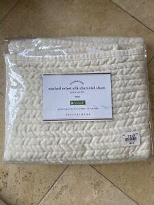 Pottery Barn Washed Velvet Silk Dismond Sham Euro