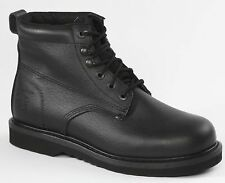 Rhino Black 6 inch Plain Toe Leather Men's Boots Size 8