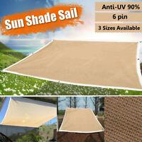 Outdoor Sun Shade Sail Net Mesh Sunscreen Garden Cover UV Canopy Awning