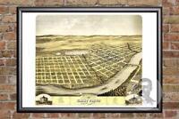 Vintage St. Cloud, MN Map 1869 - Historic Minnesota Art Old Victorian Industrial