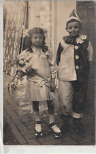 RPPC - Two Children in Halloween Costumes - early 1900s