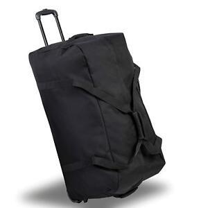 Lightweight Holdall Travel Duffel bag with wheels wheeling handle S M L XL XXL