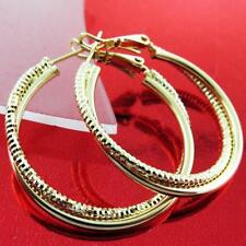 Unbranded Hoop Yellow Gold Filled Diamond Fashion Earrings