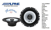 ALPINE SXE-1725S COPPIA ALTOPARLANTI COASSIALI 2 VIE ALFA FIAT LANCIA 16CM AUTO