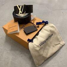 LOUIS VUITTON X SUPREME Men's LV Initiales 40MM Monogram BROWN belt 95/38 SPAIN