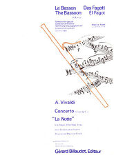 "Vivaldi, Concerto ""La Notte"" for bassoon and piano - Edited by Maurice Allard"