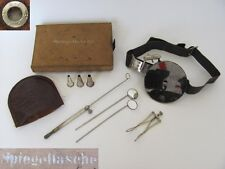 WWII GERMAN MEDICAL OTOLARYNGOSCOPIC BOXED ENT DOCTOR SET RARE