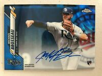 Michael Brosseau 2020 Topps Chrome Blue Wave Refractor ON-CARD AUTO RC /150 SP