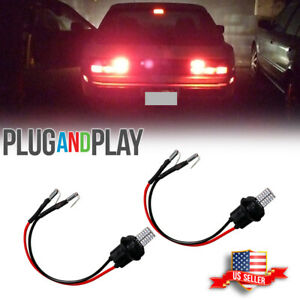 [Plug & Play] 2x Red LED Add-On Extension Tail light Mod Kit For Porsche 944 924