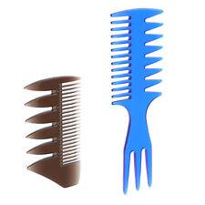 2pcs afro ramasser peigne levage hommes brosse à cheveux gras droite