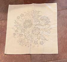 Vintage Crewel Embroidery Linen Canvas/Pillow Cove The Needlewoman's Shop London