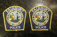 Lot of 2  Vintage Fairmont West Virginia Police Patches