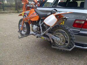 MOTORBIKE, MOTORCYCLE  BIKE RACK ,JUNIOR MODEL PIT BIKES, SWAN NECK TYPE