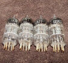 GOLD PIN * NOS NEW QUAD 1960'S USA SYLVANIA 12AT7 WA / ECC81 6201 ECC801S TUBES