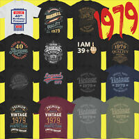Mens Funny 40th Milestone Birthday T-Shirt 40 Year Old Gift Idea Present 1979