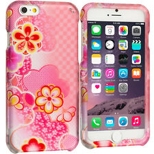 For Apple iPhone 6S (4.7) Hard Design Protective Case Cover Pink Daisy