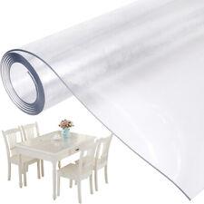 PVC Nappe Film Cristal Imperméable Protection Table Meuble 100x200cm Epais 2mm