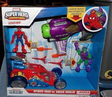 PLAYSKOOL SUPER HEROES ADVENTURES SPIDER-MAN VS GREEN GOBLIN  KOHL'S EXCLUSIVE
