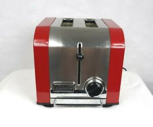 Viking Professional Model VT200 2 Slot Countertop Toaster Red Stainless Steel