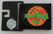 Space Jam Looney Tunes Basketball Black Faux Leather Canvas Bugs Bi Fold Wallet