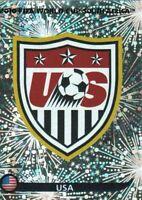 Panini WM 2010 202 USA World Cup WC 10Wappen Logo Glitzer Badge Foil