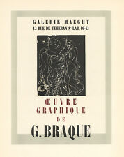 Georges Braque lithograph poster (printed by Mourlot)