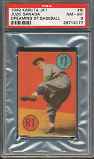 1949 JK1 Dreaming of Baseball Japanese Karuta PSA 8 Juzo Sanada HOF