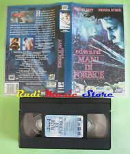 VHS film EDWARD MANI DI FORBICE 1995 Johnny Depp Winona Ryder FOX (F24) no dvd