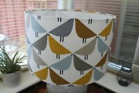SCION LINTU RETRO BIRDS LAMPSHADE DANDELION GREY BLUE SIZES - 20CM 30CM 40CM