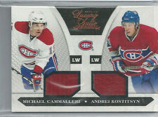 MICHAEL CAMMELLERI ANDREI KOSTITSYN GAME USED JERSEY #/599 2010-11 LUXURY SUITE